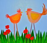Painting     Morning Gossip   SOLD
